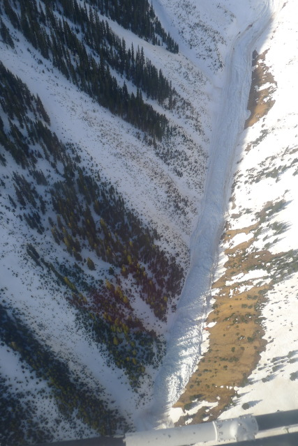 <b>Figure 16:</b> Debris from the avalanche in a lower portion of the gully. (<a href=javascript:void(0); onClick=win=window.open('https://avalanche.state.co.us/caic/media/full/acc_463_2873.jpg','caic_media','resizable=1,height=820,width=840,scrollbars=yes');win.focus();return false;>see full sized image</a>)