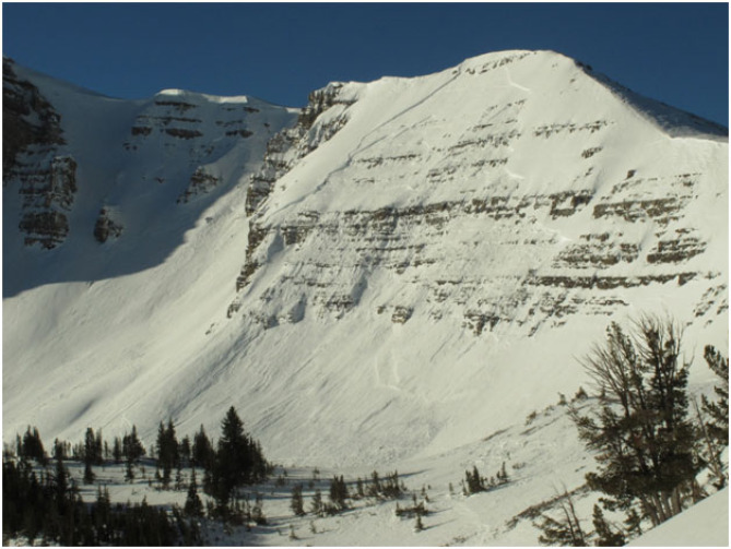 <b>Figure 2:</b> Avalanche on Pucker Face, near Jackson Hole Mountain Resort (<a href=javascript:void(0); onClick=win=window.open('http://avalanche.state.co.us/caic/media/full/acc_510_5985.jpg','caic_media','resizable=1,height=820,width=840,scrollbars=yes');win.focus();return false;>see full sized image</a>)