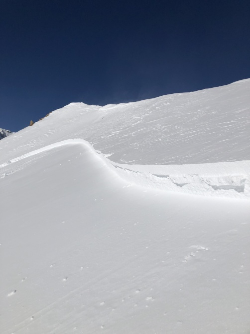 <b>Figure 2:</b> A portion of the crown of an avalanche that caught and carried two skiers on February 10, 2019. (<a href=javascript:void(0); onClick=win=window.open('https://avalanche.state.co.us/caic/media/full/acc_703_24420.jpeg','caic_media','resizable=1,height=820,width=840,scrollbars=yes');win.focus();return false;>see full sized image</a>)
