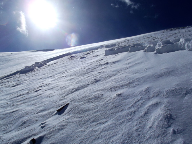 <b>Figure 4:</b> A soft 12in windslab of new snow slid on a pencil hard Fall crust. (<a href=javascript:void(0); onClick=win=window.open('https://avalanche.state.co.us/caic/media/full/obs_27897_7964.jpg','caic_media','resizable=1,height=820,width=840,scrollbars=yes');win.focus();return false;>see full sized image</a>)