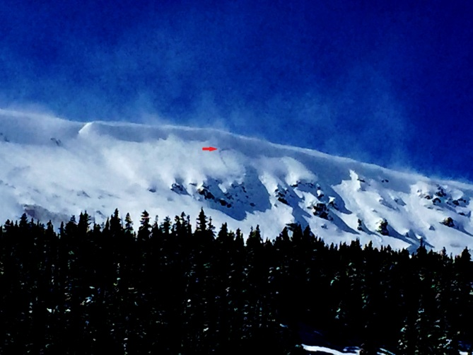 <b>Figure 1:</b> Snowboarder triggered Wind Slab avalanche, east face of Stanley, Berthoud Pass. 3.19.16 East facing slope, above treeline, broke up to 6 feet deep. (<a href=javascript:void(0); onClick=win=window.open('https://avalanche.state.co.us/caic/media/full/obs_41110_12672.jpg','caic_media','resizable=1,height=820,width=840,scrollbars=yes');win.focus();return false;>see full sized image</a>)
