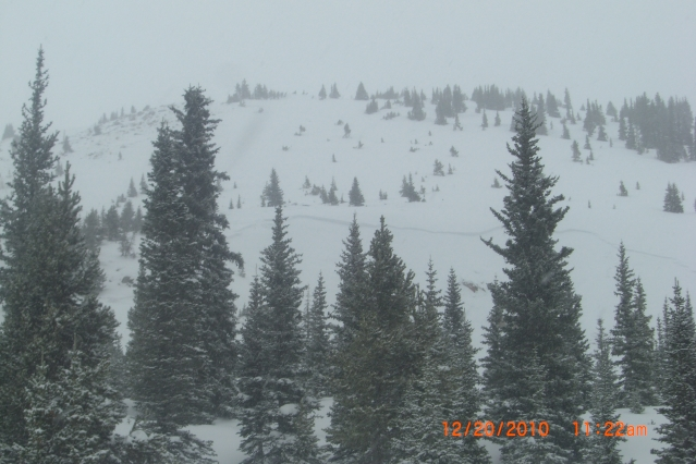 <b>Figure 1:</b> view of avalanche approaching Teacup Bowl in Current Creek. (<a href=javascript:void(0); onClick=win=window.open('https://avalanche.state.co.us/caic/media/full/obs_4846_388.jpg','caic_media','resizable=1,height=820,width=840,scrollbars=yes');win.focus();return false;>see full sized image</a>)