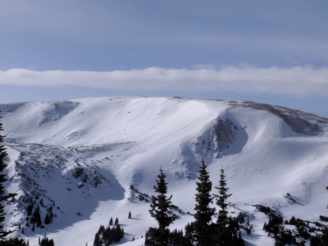 <b>Figure 3:</b> Backcountry riders likely triggered this avalanche from below. A soft-slab avalanche in recently drifted storm snow, SS-ASr-R2D1.5, 1/1/18 Berthoud Pass. (<a href=javascript:void(0); onClick=win=window.open('https://avalanche.state.co.us/caic/media/full/obs_48610_17978.jpg','caic_media','resizable=1,height=820,width=840,scrollbars=yes');win.focus();return false;>see full sized image</a>)