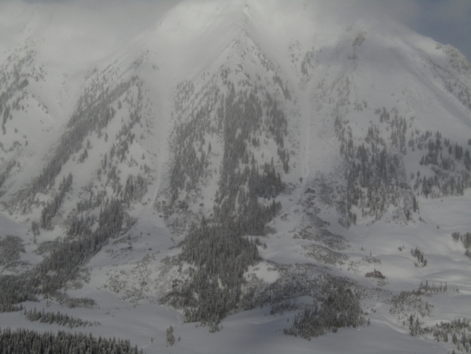 <b>Figure 11:</b> Two small natural avalanches on Gothic Mountain's West Face. (<a href=javascript:void(0); onClick=win=window.open('https://avalanche.state.co.us/caic/media/full/obs_53161_22510.jpg','caic_media','resizable=1,height=820,width=840,scrollbars=yes');win.focus();return false;>see full sized image</a>)