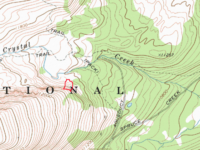 <b>Figure 1:</b> HS-AS-R3D2-I on Mt Helen, near Francies Cabin. Slide outlined in red. (<a href=javascript:void(0); onClick=win=window.open('https://avalanche.state.co.us/caic/media/full/obs_8643_1195.jpg','caic_media','resizable=1,height=820,width=840,scrollbars=yes');win.focus();return false;>see full sized image</a>)