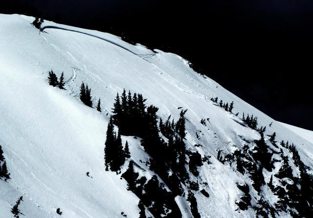 <b>Figure 2:</b> West Side Cliffs.  East aspect.  It appeared skier triggered - there were tracks in and out in the starting zone (fortunately - it would have been a nasty ride).  Happened between 10:00 am and 1 pm.  150' wide crown, maybe 2' deep.  Slid probably 300' vertical, starting at 11,700'.  R3-D2. (<a href=javascript:void(0); onClick=win=window.open('https://avalanche.state.co.us/caic/media/full/obs_8797_1276.jpg','caic_media','resizable=1,height=820,width=840,scrollbars=yes');win.focus();return false;>see full sized image</a>)