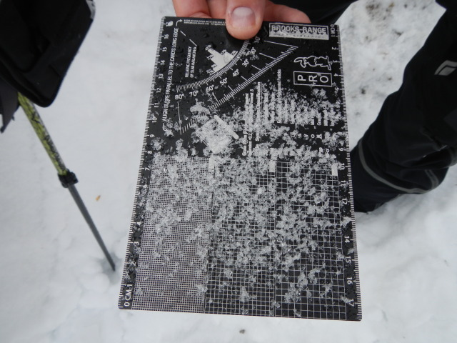 <b>Figure 9:</b> 6mm faceted depth hoar grains from basal snow layer at the accident site. (<a href=javascript:void(0); onClick=win=window.open('https://avalanche.state.co.us/media/full/acc_431_1817.jpg','caic_media','resizable=1,height=820,width=840,scrollbars=yes');win.focus();return false;>see full sized image</a>)