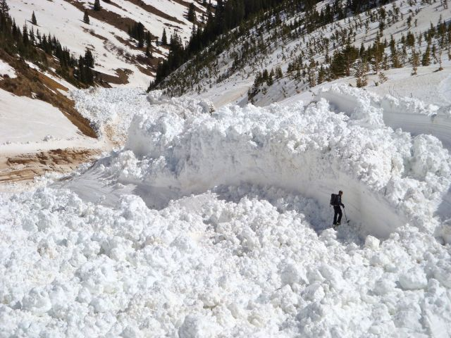 <b>Figure 8:</b> Some of the debris from the avalanche. (<a href=javascript:void(0); onClick=win=window.open('https://avalanche.state.co.us/media/full/acc_463_2807.jpg','caic_media','resizable=1,height=820,width=840,scrollbars=yes');win.focus();return false;>see full sized image</a>)